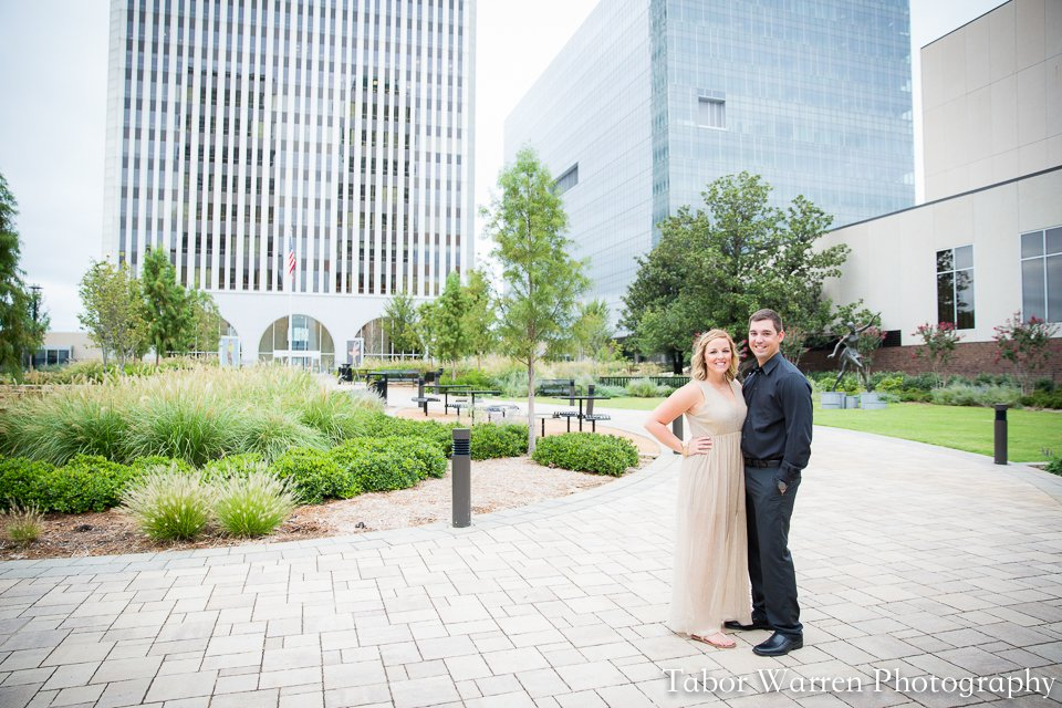 downtown tulsa engagement photography